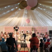 Reception in the community hall - a hot summer affair :-)