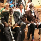 The groom's uncle - the old father in Zulu - was treated with a lot of respect