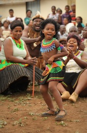 Song and dance - a young girl