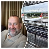 * Waiting for my plane at Zurich airport ...