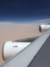Over the Sahara ...