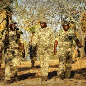 The Pakamisa anti-poaching team patrolling ...