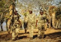 The Pakamisa anti-poaching team patrolling ...