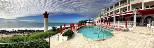 The Oysterbox Hotel in Umhlanga, what a place, what a setting ...